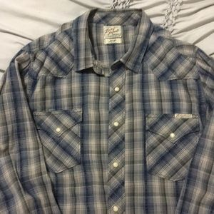 LUCKY BRAND long sleeve snap button shirt